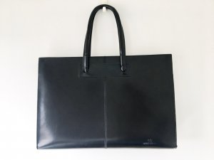 Laptop bag black imitation leather