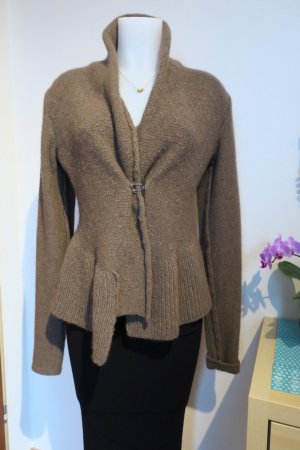 Coarse Knitted Jacket bronze-colored-light brown