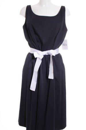 Daniel Hechter A-Linien Kleid dunkelblau-weiß Casual-Look