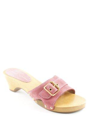 Daniel Hechter Heel Pantolettes pink wooden look