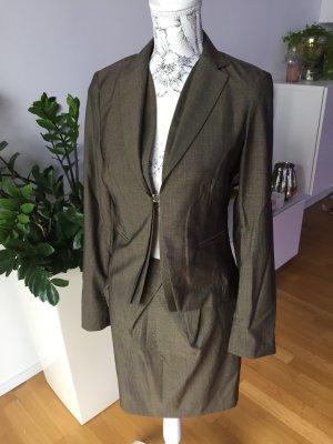 Daniel Hechter Blazer Kostüm Jacke braun grau Gr 34 wie neu