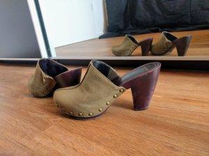 Daniel Hechter Clog Sandals khaki-brown red