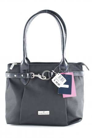 Daniel Hechter Bolso barrel negro-color plata look casual
