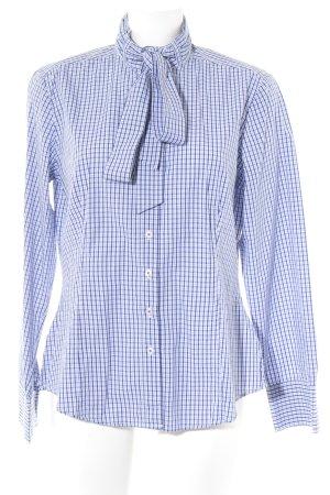 Daniel Hechter Jeans Camisa de manga larga blanco-azul estampado a cuadros