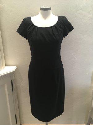 Daniel Hechter Kleid Etuikleid blau dunkelblau Wolle 36 S