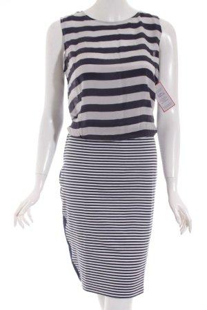 Daniel Hechter Kleid weiß-dunkelblau Streifenmuster Beach-Look
