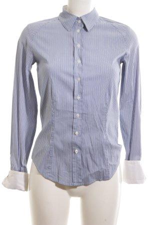 Daniel Hechter Long Sleeve Blouse blue-white striped pattern casual look