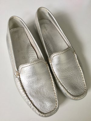 Daniel Hechter Moccasins silver-colored leather