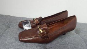 Daniel Hechter Backless Pumps black brown leather