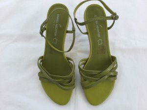 Daniel Hechter Strapped High-Heeled Sandals green leather