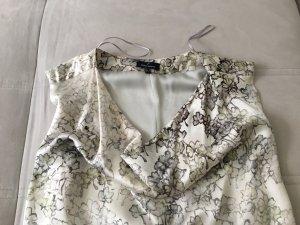 Daniel Hechter Schimmerndes Seidenkleid Weiß-Silber