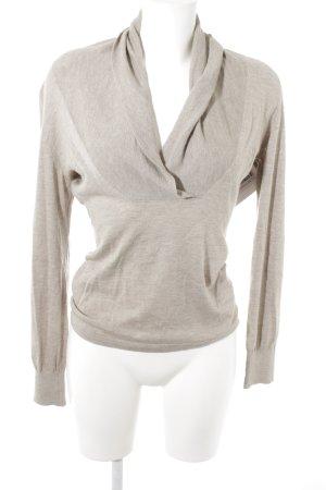 Daniel Hechter Pull tricoté gris brun style décontracté