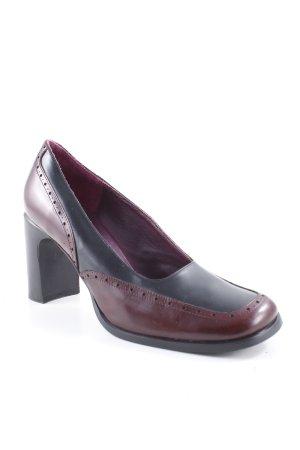 Daniel Hechter Loafers zwart-paars extravagante stijl