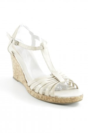 Daniel Hechter Wedge Sandals cream-light brown casual look