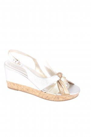 Daniel Hechter Wedge Sandals gold-colored-silver-colored metallic look