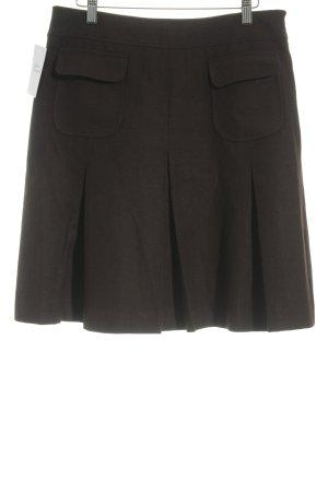 Daniel Hechter Wool Skirt dark brown classic style
