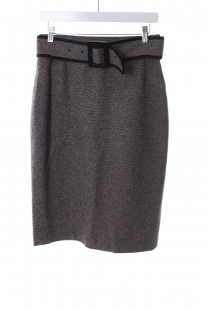 Daniel Hechter Wollen rok zwart-licht beige gestippeld patroon zakelijke stijl