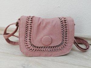 Borsa a tracolla rosa antico-rosa pallido Finta pelle