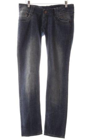 Daniel Stern Slim Jeans blau-graublau Webmuster Casual-Look
