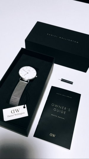 Daniel Wellington Watch With Metal Strap silver-colored