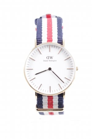 Daniel Wellington Analoguhr Streifenmuster Casual-Look