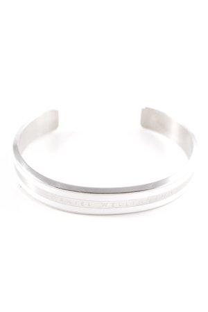 Daniel Wellington Bracelet de bras argenté-blanc motif rayé style d'affaires