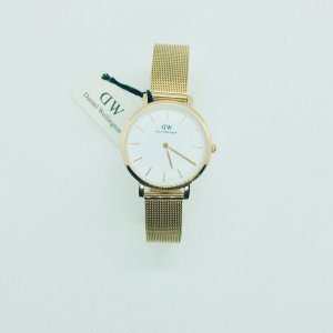 Daniel Wellington Watch With Metal Strap gold-colored-white