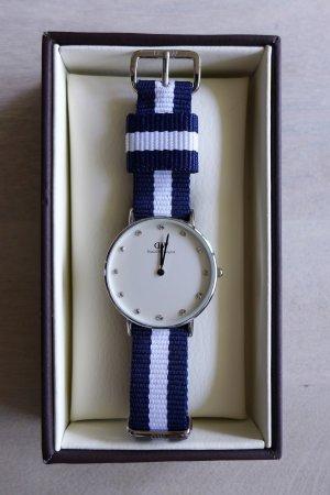 Daniel Wellington Classy Glasgow Damenuhr Armbanduhr blau weiß Glitzer