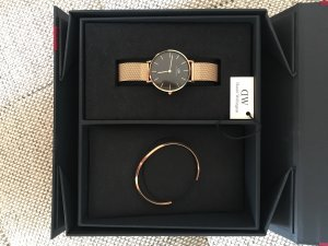 Daniel Wellington Watch With Metal Strap rose-gold-coloured-black