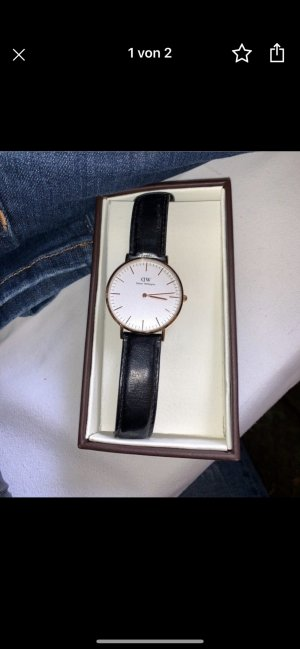 Daniel Wellington Leder Uhr schwarz