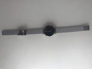 Daniel Wellington Horloge met metalen riempje zilver-zwart
