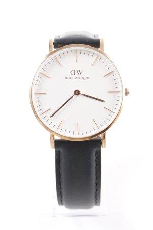 Daniel Wellington Reloj con pulsera de cuero multicolor estilo sencillo