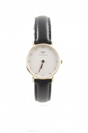 Daniel Wellington Uhr mit Lederarmband schwarz-roségoldfarben Elegant