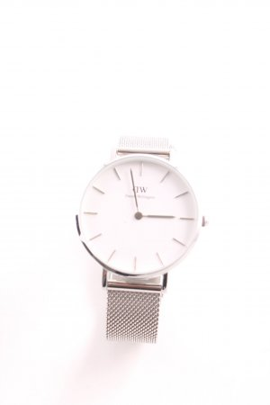 Daniel Wellington Watch With Metal Strap silver-colored simple style