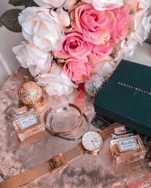 Daniel Wellington Montre avec bracelet métallique or rose