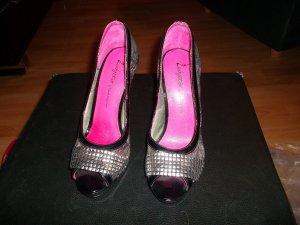 daniela katzenberger,neu,high heels,grösse 37,silber/schwarz/pink