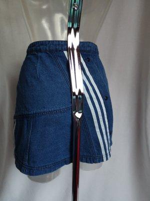 Adidas Jupe en jeans blanc-bleu