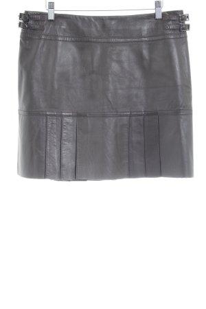 Danier Falda de cuero marrón oscuro estilo urbano