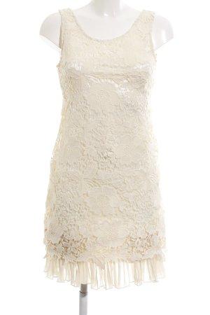 Danity Lace Dress natural white flower pattern elegant