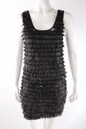 Danity Trägerkleid schwarz mit Fransen