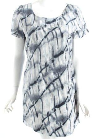 Dannenmann Shirtkleid grau-anthrazit Batikmuster klassischer Stil