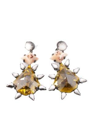 Dannijo Statement Earrings light orange-silver-colored elegant