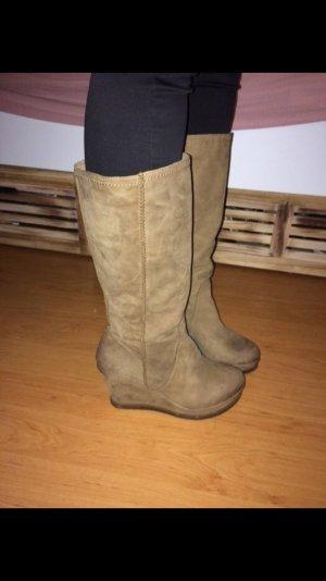 Danny Shoes Heel Boots beige-light brown