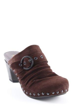 Dansko Heel Pantolettes dark brown classic style