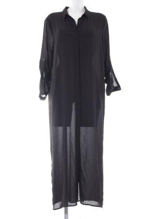 Dante 6 Hemdblusenkleid schwarz Transparenz-Optik