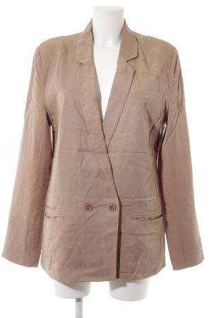 Dante 6 Short Blazer beige weave pattern business style