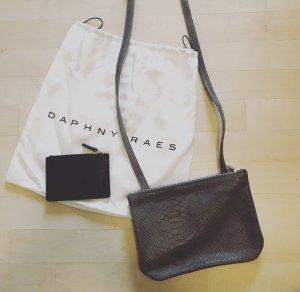 Daphny Raes Duo Bag Crossbody Tasche grau Leder Phyton Reptil