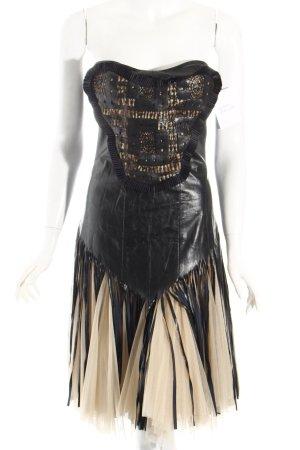 Darja Richter Cocktailkleid schwarz-hellbeige extravaganter Stil