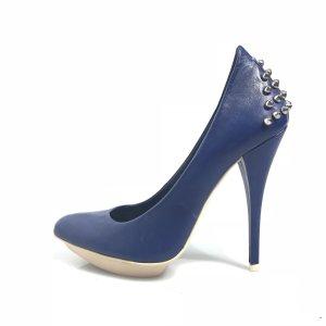 Dark Blue Alexander McQueen High Heel