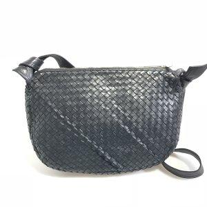 Dark Blue Bottega Veneta Cross Body Bag
